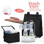 Ameda 17077KIT2, Purely Yours Breast Pump Combo# 2 with Carry All Bag, Free ComfortGel Soothing Breastpads, and Areola Stimulator