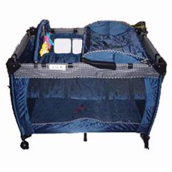 Dream On Me 436B Incredible 2 Level Fullsize Play Yard with Changing Top - Navy