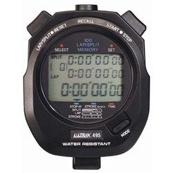 Ultrak 495-BLK 100 Lap Memory Stopwatch (With 3 Line Display) - Black