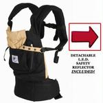 BC6CA-KIT Ergo Baby Black Baby Carrier with Camel Lining And LED Safety Reflector Light