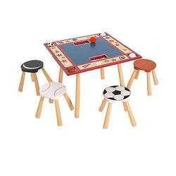 Levels of Discovery LOD20025 All Star Sports Table and 4 Stool Set
