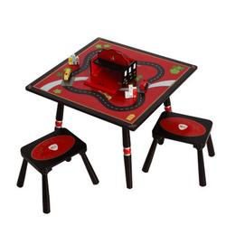Levels of Discovery LOD20038 Firefighter Table and 2 Stool Set