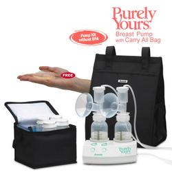 Ameda 17077KIT3, Purely Yours Breast Pump Combo# 3, with Carry All Bag and Free ComfortGel Hydrogel Soothing Breast Pads