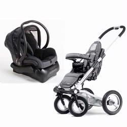 Mutsy SS06S-ABLACKKIT 4Rider Single Travel System With Matching Maxi-Cosi Car Seat, Active Black