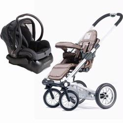 Mutsy SS06S-ACO2 4Rider Single Travel System With Maxi- Cosi total black Car Seat, Active Coffee