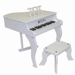 Schoenhut 3005W 30 Key Fancy Baby Grand Piano - White