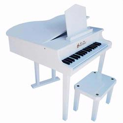 Schoenhut 379W 37 Key Concert Grand Piano - White