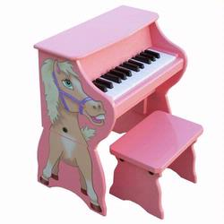 Schoenhut 9258H 25 Key Horse Piano w/ Bench