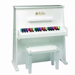Schoenhut 3798W 37 Key Day Care Durable Piano - White