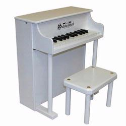 Schoenhut 6625W 25 Key Traditional Spinet - White
