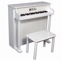 Schoenhut 6637W 37  Key Traditional Deluxe Spinet - White