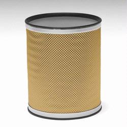 R228-GDSV Redmon Bath Jewelry Collection Round Wastebasket - Gold With Silver Lining
