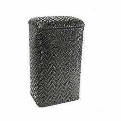 123BK Redmon Elegante Ensemble Apartment Hamper - Black