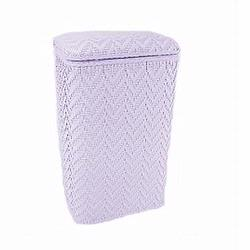 123PA Redmon Elegante Ensemble Apartment Hamper - Purple Ash