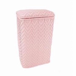 123CP Redmon Elegante Ensemble Apartment Hamper - Crystal Pink