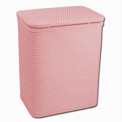 Redmon 721CP Infant and Toddler Wicker Hamper With Bag - Crystal Pink