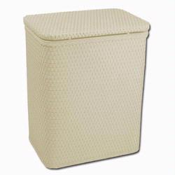 Redmon 721CR Infant and Toddler Wicker Hamper With Bag - Cream