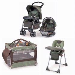 Chicco ADVKIT Matching Stroller System, High Chair and Play Yard Combo - Adventure