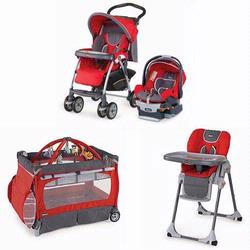 Chicco FUEGKIT Matching Stroller System, High Chair and Play Yard Combo - Fuego