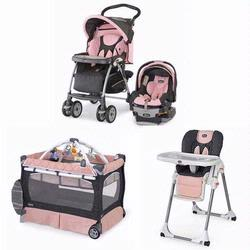 Chicco BELLKIT Matching Stroller System, High Chair and Play Yard Combo - Bella