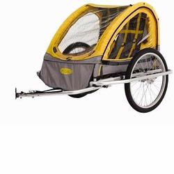 InSTEP 12-MK553 Rocket Aluminum Bicycle Trailer - Yellow/Grey