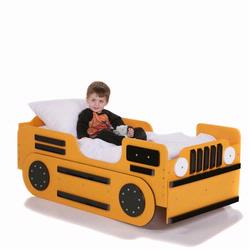 Just Kids Stuff Bulldozer Toddler Bed - Yellow