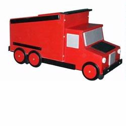 Just Kids Stuff Dumptruck Toy Chest Red