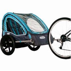 InSTEP 12-QE126 Take 2 Bicycle Trailer - Turquoise/Grey