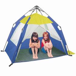 Pacific Play Tents 19010 ONE TOUCH PLAY CABANA W/ZIPPERED MESH FRONT - 60