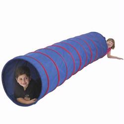 Pacific Play Tents 20513 9 FT.X22 INSTUTIONAL 2 TONE TUNNEL- BLUE/RED