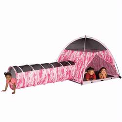 Pacific Play Tents 30470 PINK CAMO TENT & TUNNEL COMBO