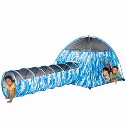 Pacific Play Tents 30480 Blue Camo Tent and Tunnel Combination