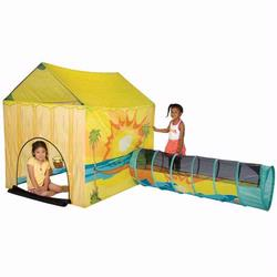 Pacific Play Tents 30710 Day At The Beach Play House Tent and Tunnel Combo