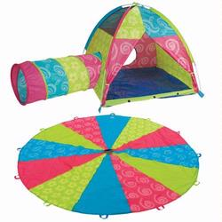 Pacific Play Tents 44122 Sugar and Spice 10' Parachute With Tent and Tunnel Combo