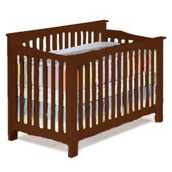 Atlantic Furniture 98304 Columbia Convertible Crib - Antique Walnut