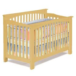 Atlantic Furniture 98305 Columbia Convertible Crib - Natural Maple