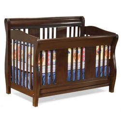 Atlantic Furniture 98204 Versailles Convertible Crib - Antique Walnut