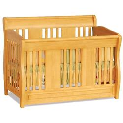 Atlantic Furniture 98205 Versailles Convertible Crib - Natural Maple