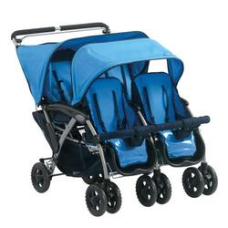Foundations 40NMBO The Quad 4-Passenger / Dual Canopy Folding Stroller