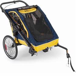 BabyJogger 67988 Switchback Bicycle Trailer - Jogging Stroller Combo,navy / yellow