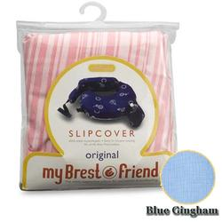 MyBrestFriend 816 Blue Gingham Nursing Pillow Slip Cover
