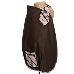 Balboa Baby 10011 Nursing Cover - Emme Brown with Pink & Brown Trim
