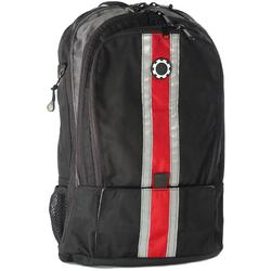 DadGear BPCSRD Backpack Style Diaper Bagk - Red Center Stripe