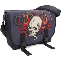 DadGear MBGASF DadGear Messenger Bag - Skull & Flames