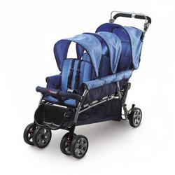 Foundations 43FRBO The Trio Triple Tandem Stroller - Blue