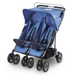 Foundations 42SSBO The Duo-SS Double Side by Side Stroller - Blue