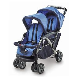 Foundations 42FRBO The Duo Double Tandem Stroller - Blue