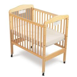 Foundations 20CCN3 Fixed-Side Clearview Serenity Crib w/ Adjustable Mattress Board - Natural