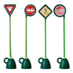 Italtrike 9402D 4 pc Signage Set (Stop, Yield, Crosswalk, Do not Enter)