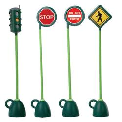 Italtrike 9402E 4 pc Signage Set (Light, Stop, Do Not Enter, & Crosswalk)